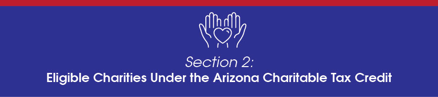 Eligible Charities under the Arizona Charitable Tax Credit