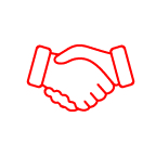 Icon for shaking hands